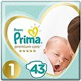 Prima Bebek Bezi Premium Care, 1 Beden, 43 Adet, Yenidogan Ekonomi Paketi