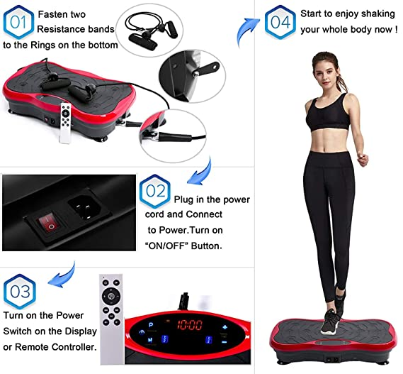 JIANGJIE Música Bluetooth Externo de Fitness vibración Plataforma ...