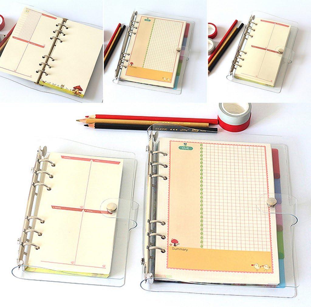 ATATMOUNT A5 A6 A7 Blocco Note per Notebook in PVC Foglio per coperture Copertina per cartelle Cartella 6 Fori Raccoglitore Fai da Te