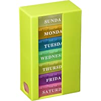 PuTwo Pill Organizer for 7 Days with 3 Compartments, Rainbow