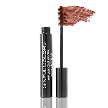 Amazon.com: SinfulColors Diva Lash Color Mascara in Fantas-Eyes, Metallic Copper Mascara: Beauty