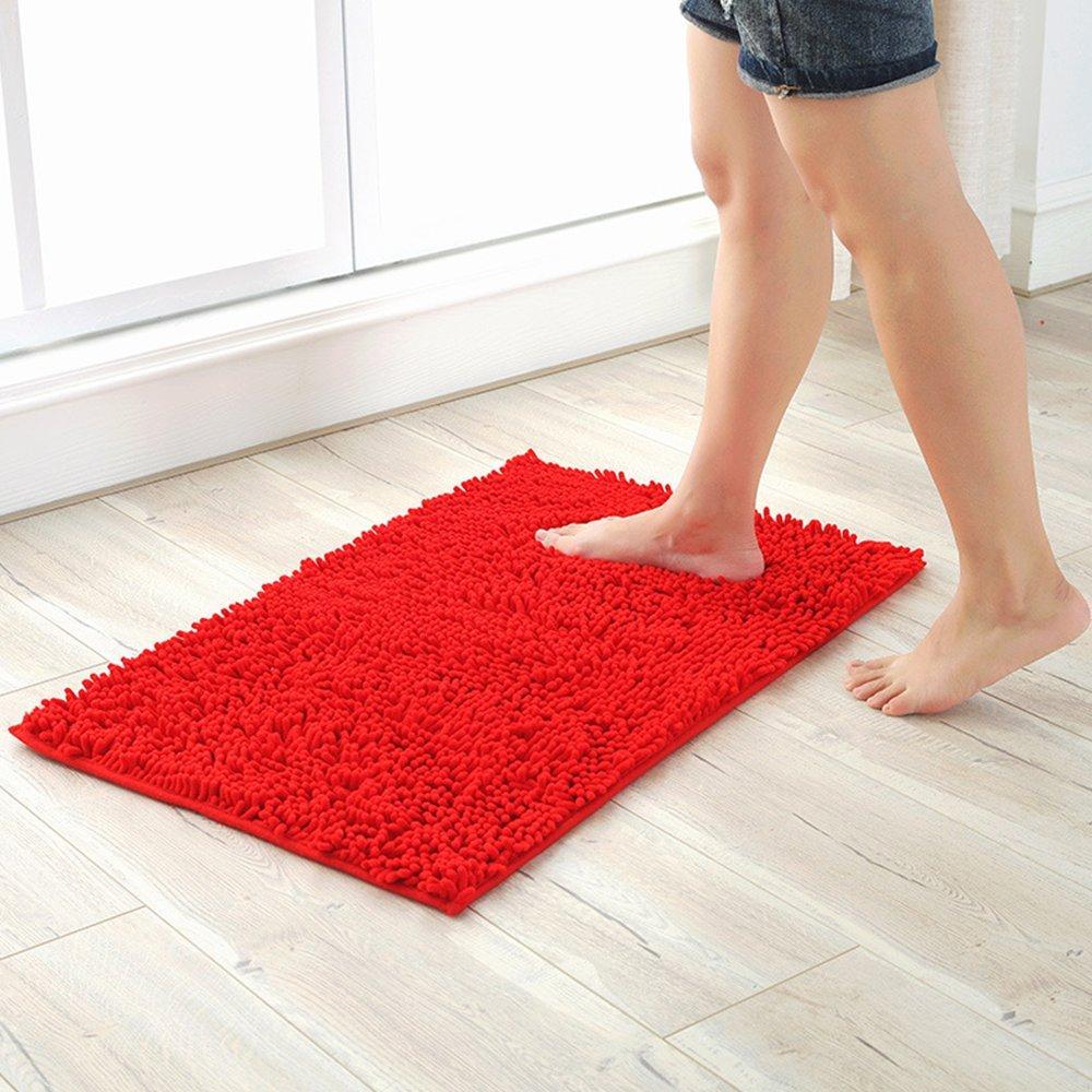 Soft Chenille Rectangle Non-slip & Water-absorbent Microfiber Doormat Floor Area Rugs Carpet Bath Mat for Bedroom,Sitting Room,Kitchen, and Bathroom 15.7 x 23.6 inch Heyome
