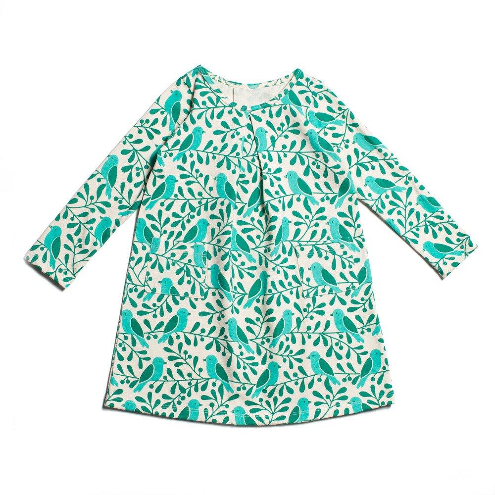 fbe96ab08 Amazon.com: Winter Water Factory Long Sleeve Organic Aspen Baby Girls Dress:  Clothing