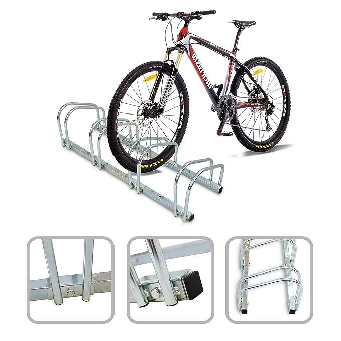 Todeco - Puesto de Bicicletas, Soporte para Aparcar Bicicletas - Tamaño: 99 x 32 x 26 cm - Tipo de instalación: Montaje en pared - Se adapta a 4 bicicletas: ...