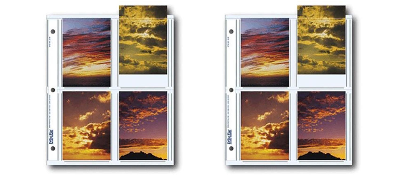 Print File Archival Photo Pages Holds Eight 3.5'' x 5'' Prints, 25pc 2pack