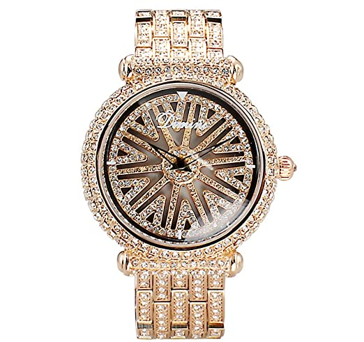 Reloj de mujer de lujo reloj de moda de diamantes completo Reloj de mujer de moda impermeable 2018 Reloj de acero nuevo: Amazon.es: Relojes