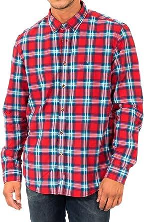 McGregor Camisa Hombre Rojo/Multicolor S: Amazon.es: Ropa y accesorios