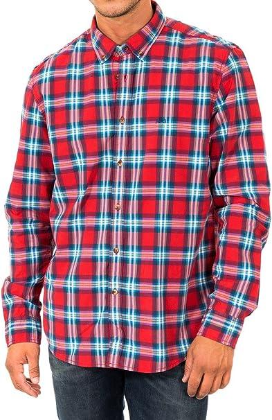 McGregor Camisa Hombre Rojo/Multicolor 2XL: Amazon.es: Ropa y ...