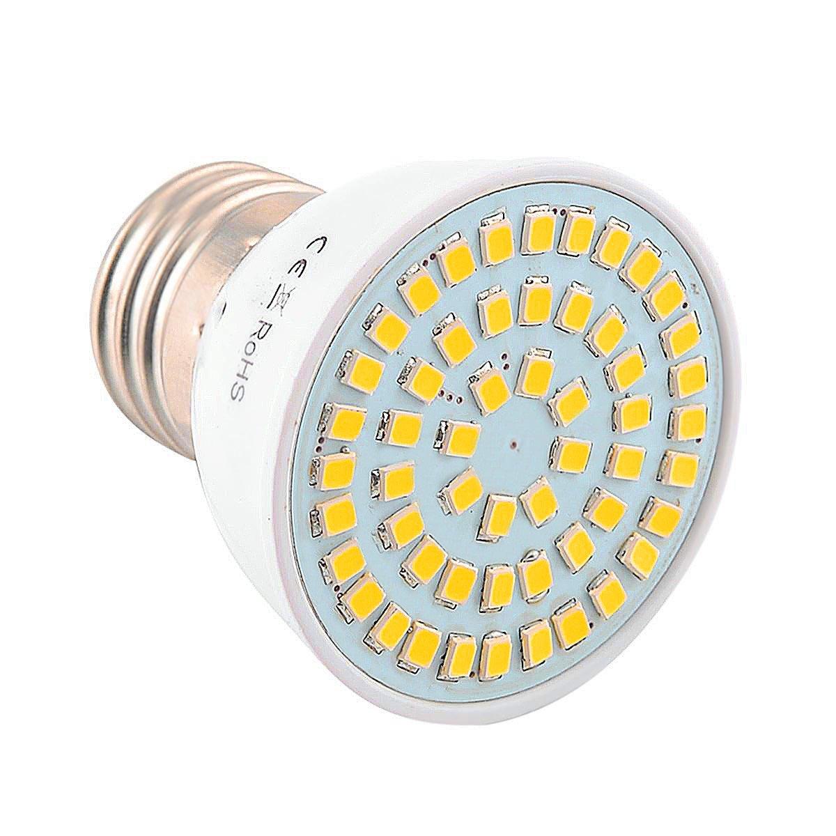 YLiansong LED-Flutlichtlampe, 54 LED 5 Watt LED E27 / E26 2835SMD 400-500Lm Warmweiß Kaltweiß Natürliche Weiße LED Spotlight (AC 110 V / AC220V) [Energieklasse A +] (Color : Cool White, Size : 110V)