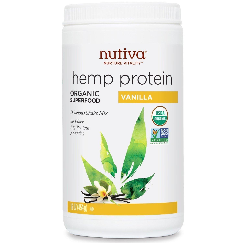 Nutiva, Protein Shake Hemp Vanilla, 16 Ounce