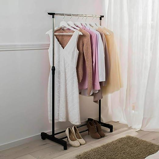 Kleiderständer Wäscheständer Garderobenständer mit 4 Rollen Kleiderstange Möbel