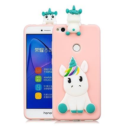 Leton Funda Huawei p8 Lite 2017 Silicona Unicornio 3D Suave Flexible TPU Carcasa p8 Lite 2017 Ultra Delgado Mate Gel Tapa Antigolpes Goma Cubierta ...
