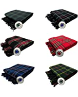 Tartanista - Fly plaid pour kilt avec broche - 7 tartans disponibles