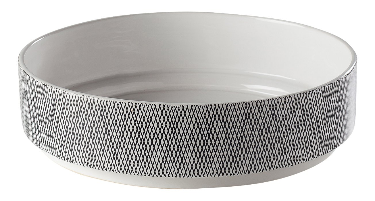 Torre & Tagus Bergen Weave White Ceramic Bowl