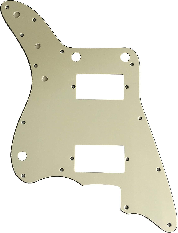 Golpeador de guitarra personalizado para Fender Japan Jazzmaster PAF sin estilo de control de ritmo, 3 capas verde menta.