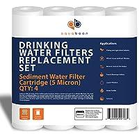 aquaboon 5mic-4pk 5-micron sedimentos cartucho de filtro de agua 4-Pack