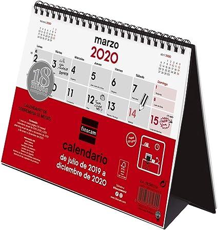 Calendario de sobremesa 18 meses 2019-2020 español: Amazon.es ...