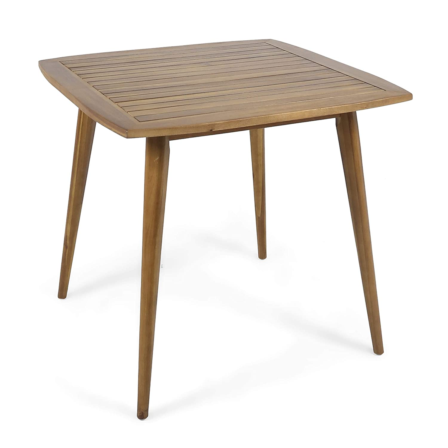 Christopher Knight Home Caleb Indoor Square Acacia Wood Dining Table, Teak, Finish