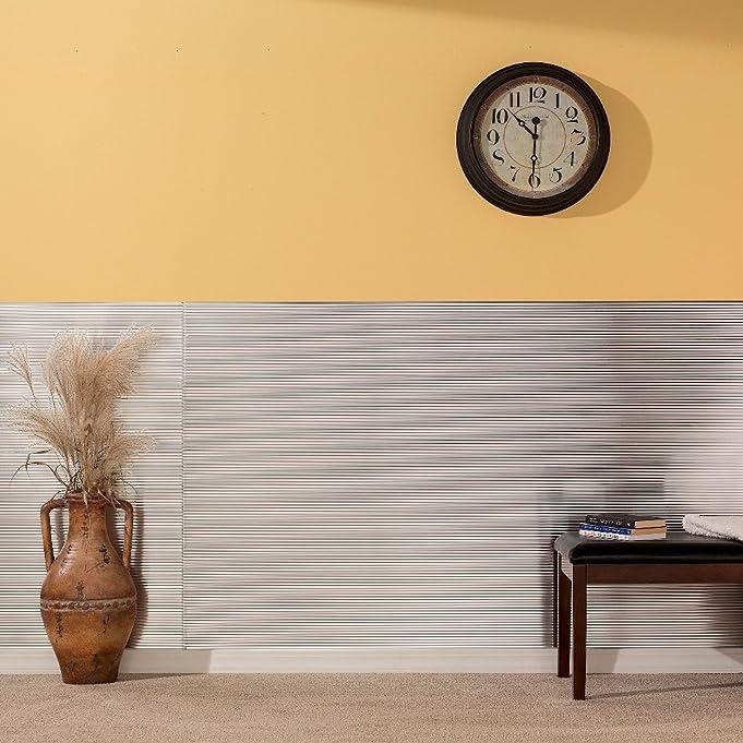 Amazon.com: Fasade - Rib Brushed Aluminum Decorative Wall Panel ...
