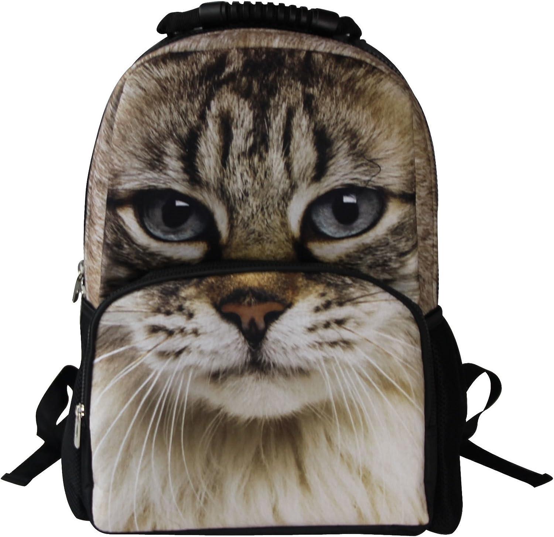 Animal Face 3D Animals Sphynx Cat Backpack 3D Deep Stereographic Felt Fabric