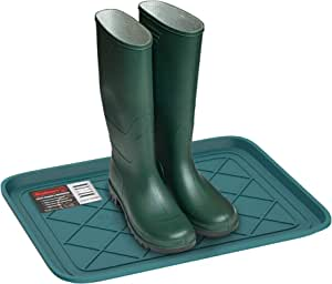 Stalwart 75 St6106 Weather Boot Tray Small Water Resistant Plastic Utility Shoe Mat For Indoor Outdoor Use In All Seasons Teal Home Kitchen Amazon Com
