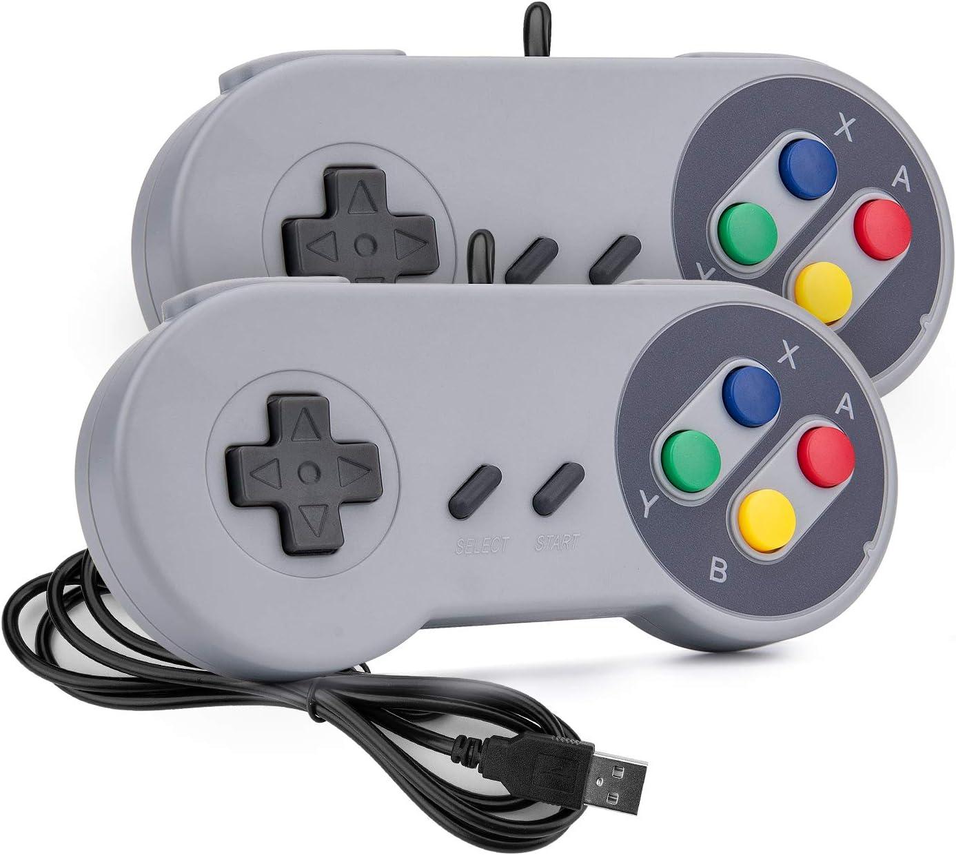 Mafiti Game Controller SNES Retro USB Controller Joystick for Windows PC MAC Linux Raspberry Pi 2 Pack