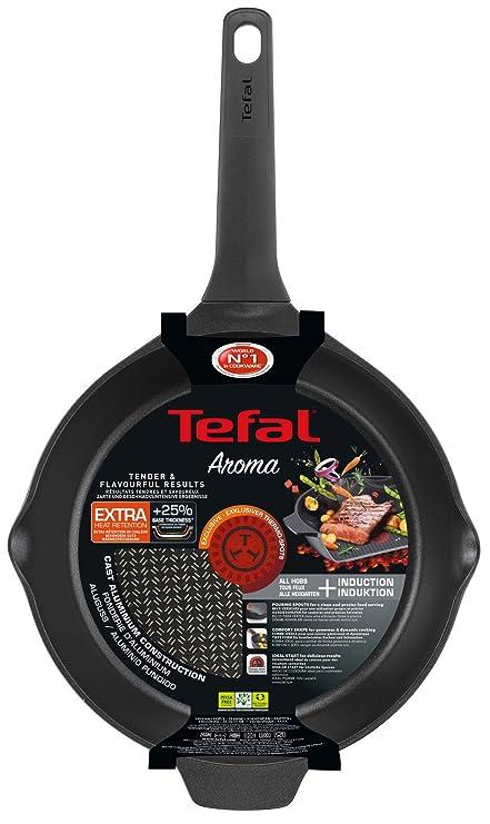 Tefal Aroma Sartén con Recubrimiento de Titanio Antiadherente y thermosport, aptas para Todo Tipo de cocinas Incluido inducción, Aluminio Fundido, ...