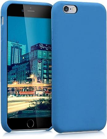 Kwmobile Hülle Kompatibel Mit Apple Iphone 6 6s Handyhülle Gummiert Handy Case In Blau Elektronik