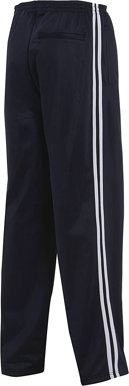 Mens Casual Tricot Jog Pants 2 Stripe Jogger Track Bottom Trousers Black Navy