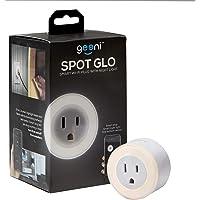 Geeni GN-WW108-199 Glow Spot Glo Round Nightlight + Smart Plug, White, No Hub Required, Works with Alexa, Google…
