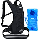 Hydration Backpack with Sport Waist Pouch, 70oz Water Bladder Backpack for Man Women Kid, Lightweight Nylon Hydration…