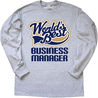 498469825 inktastic - Worlds Best Business Long Sleeve T-Shirt Small Ash Grey 1e1b3