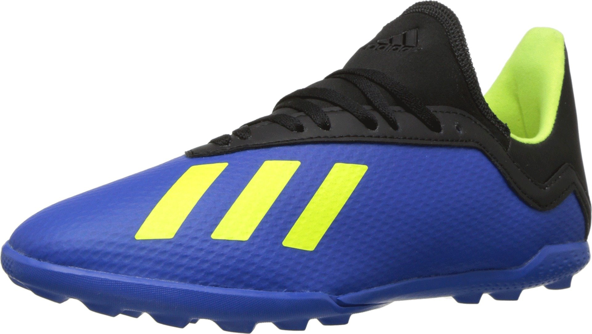 adidas Unisex X Tango 18.3 TF J Soccer Shoe, Football BlueSolar Yellowcore Black, 3 M US Big Kid