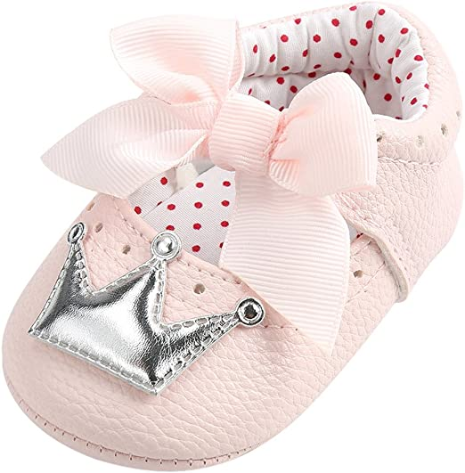 Lurryly Newborn Infant Baby Girls Boys Floral Crib Shoes Soft Sole Anti-Slip Sneakers