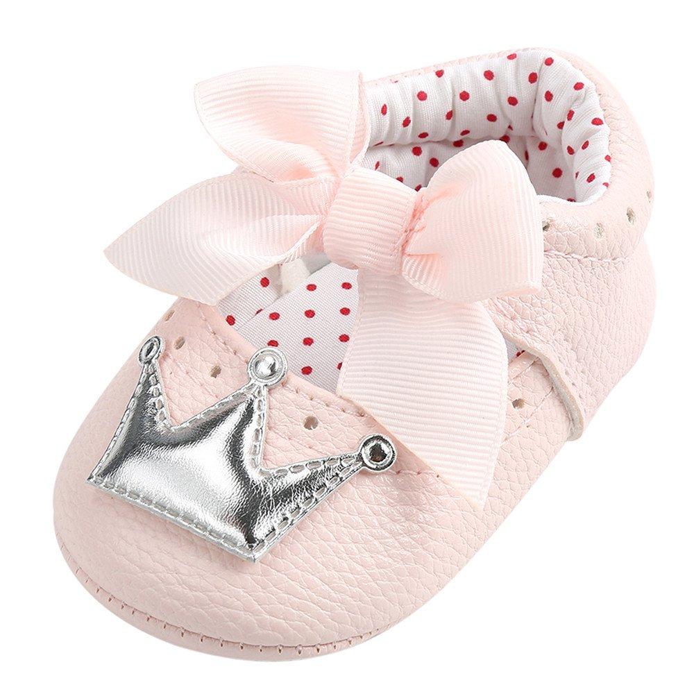 Zapatos Bebe Niño Primeros Pasos, Zolimx Recién Nacido Bebé Niña de Invierno Corona Zapatos Suela Suave Antideslizante Zapatillas Bautizo