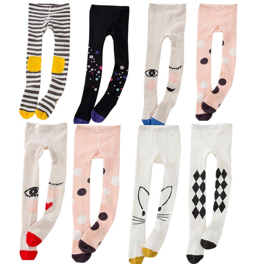 XUNYU Baby Girls Big Eyes Printing Stocking Infant Tight Kinits Legging Pants