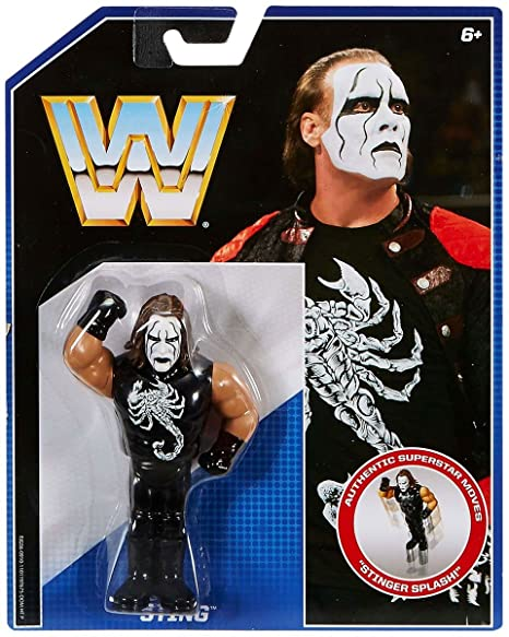 amazon com wwe sting mattel retro toy wrestling figure toys games