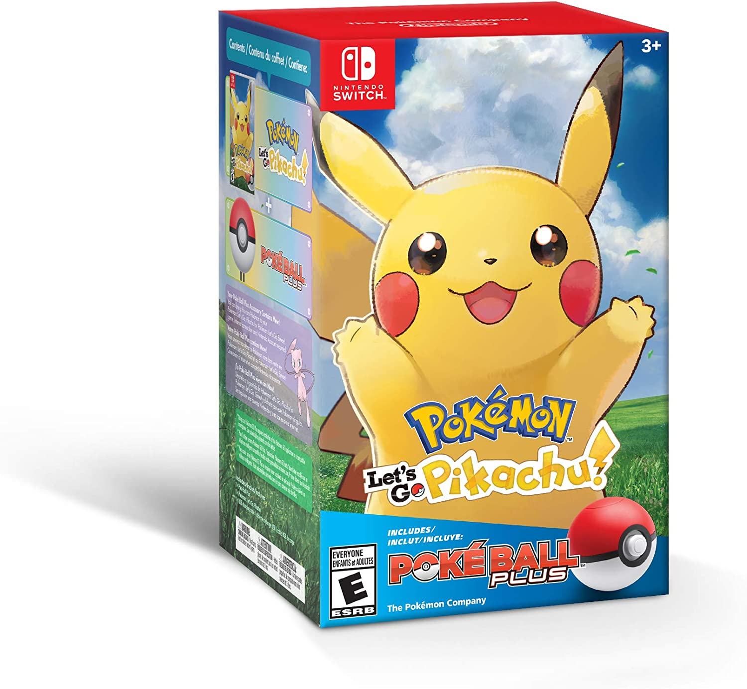 Amazon Com Pokemon Let S Go Pikachu Poke Ball Plus Pack