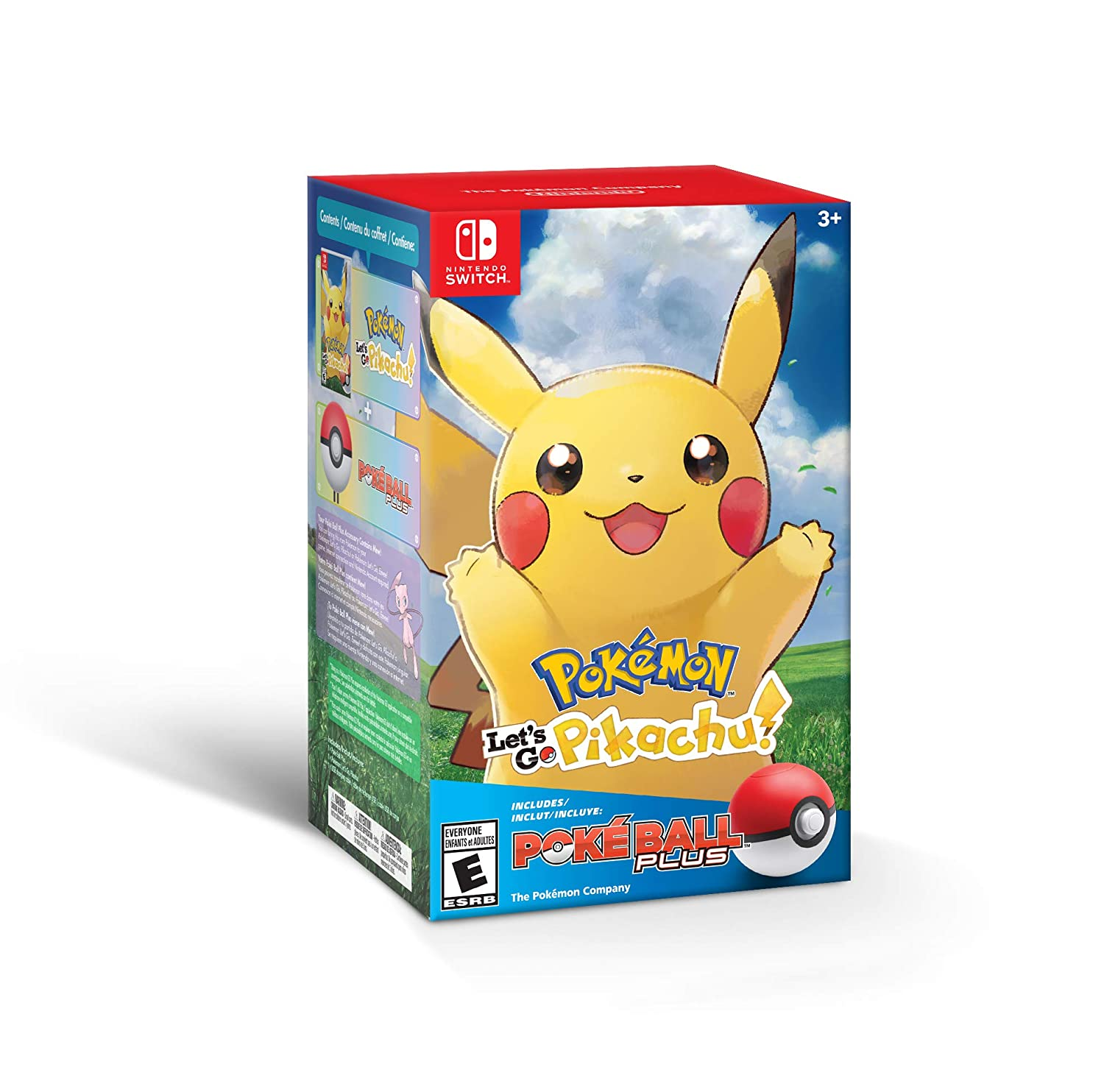 Pokemon Lets Go Pikachu + Poke Ball Plus for Nintendo Switch USA ...