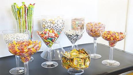 amazon com 11 pc deluxe candy buffet set plastic candy jars candy rh amazon com plastic candy table containers plastic containers for candy buffet