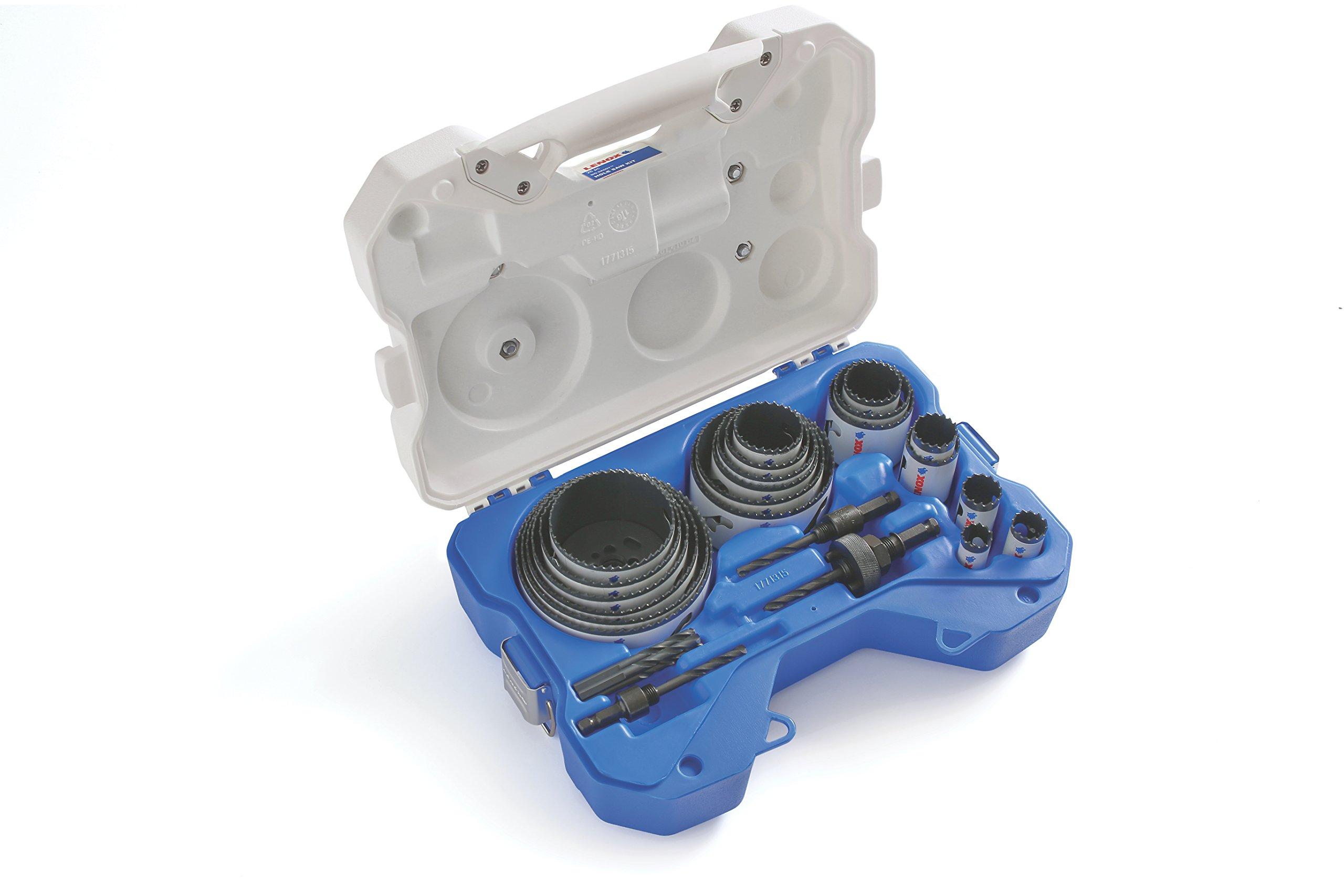 LENOX Tools Hole Saw Kit, Speed Slot, 26-Piece (308042000G) by Lenox Tools
