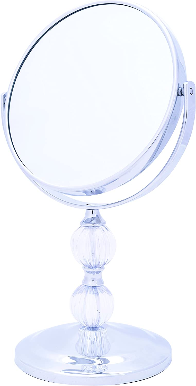 Danielle Creations Decorative Double Ball Vanity Mirror, 5x Magnification
