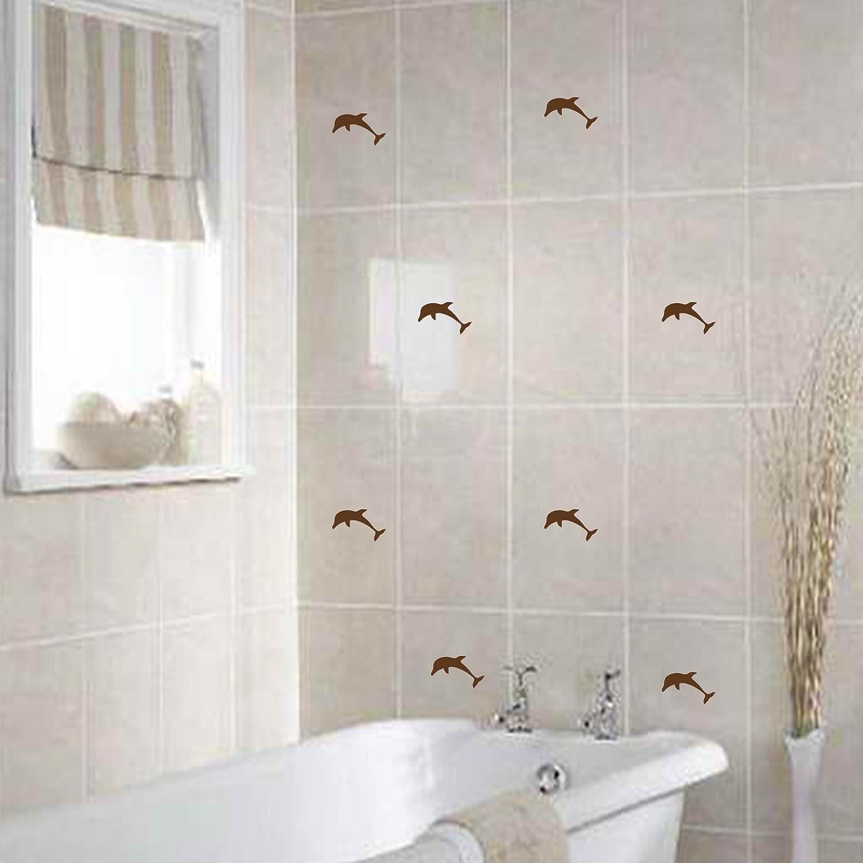 44 Dolphins Size 5cm width Colour Black Bathroom tiles dolphin stickers, Tile sticker, shower sticker, dolphin decal ThatVinylPlace