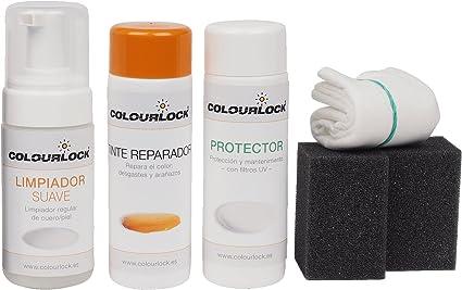 COLOURLOCK Kit restauración Cuero/Piel F034 (Negro), Limpia, restaura el Color y Protege el Cuero en Coches, sofás, Ropa, Bolsos …