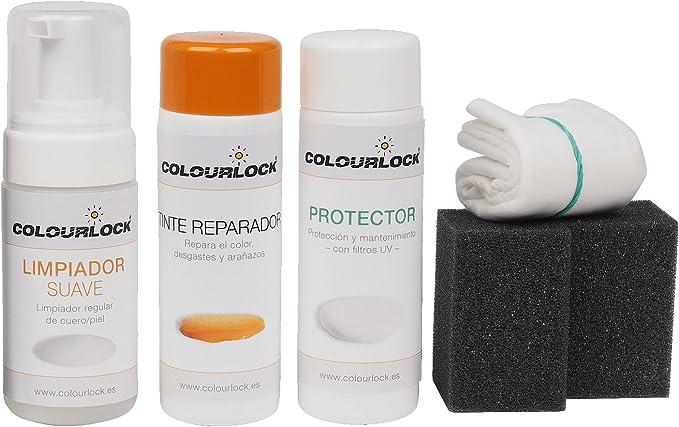 COLOURLOCK Kit restauración Cuero/Piel F033 (Blanco), Limpia, restaura el Color y Protege el Cuero en Coches, sofás, Ropa, Bolsos