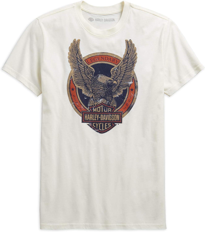 HARLEY-DAVIDSON Legendary Eagle - Camiseta de Manga Corta para Hombre, Color Blanco - Blanco - Small: Amazon.es: Ropa y accesorios
