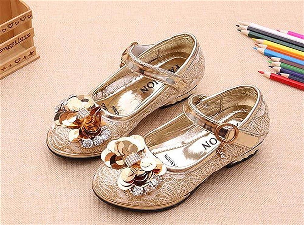 Little Kid//Little Girls Girls Little Heel Ballet Dress Shoes Princess Mary Jane Floral Dress