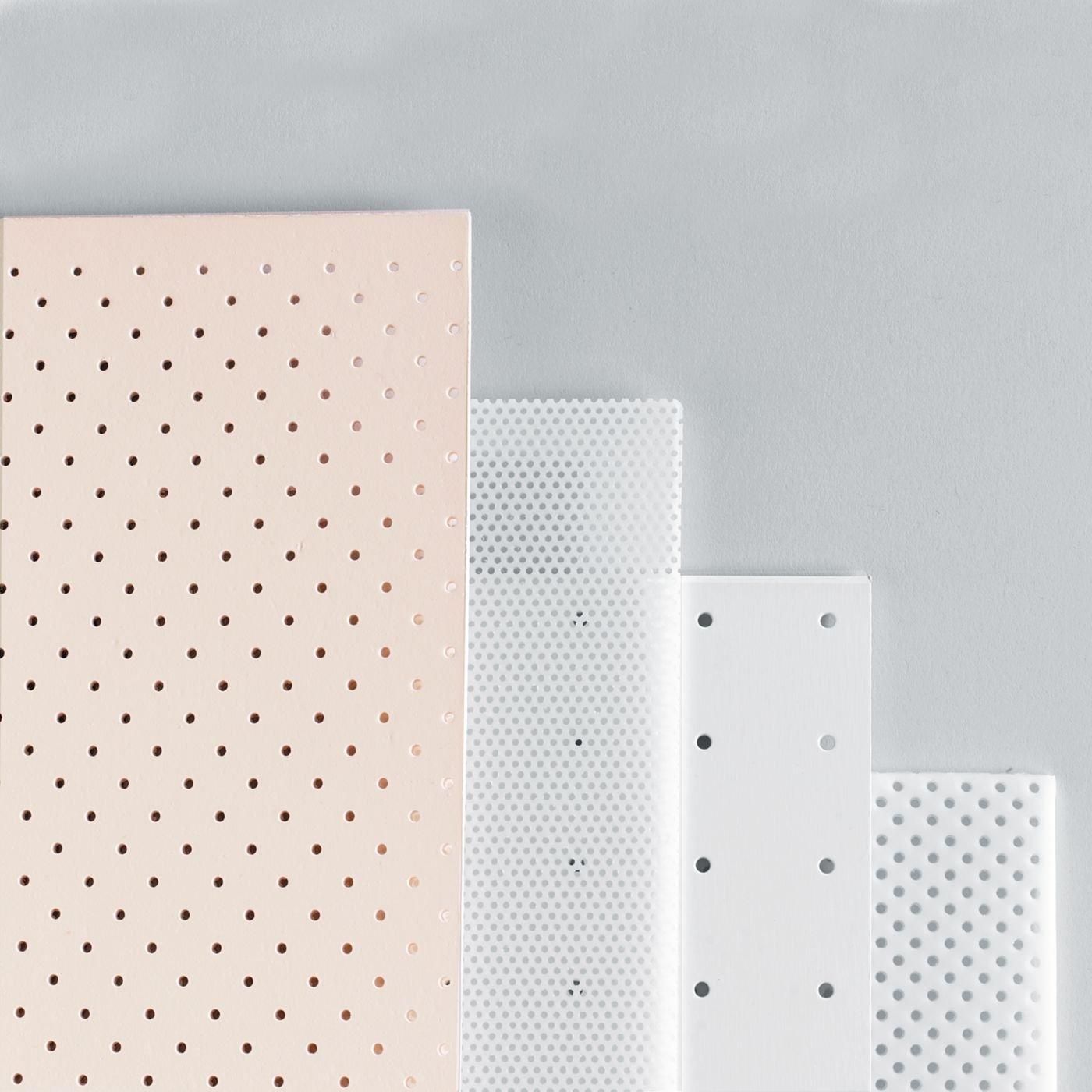 Rolyan Small Splinting Materials, Clinic Pack B, 4 Sheets, 1 Each Tailorsplint 1% Perforated, Polyflex II Solid, Aquaplast-T Optiperf, Ezeform 1% Perforated