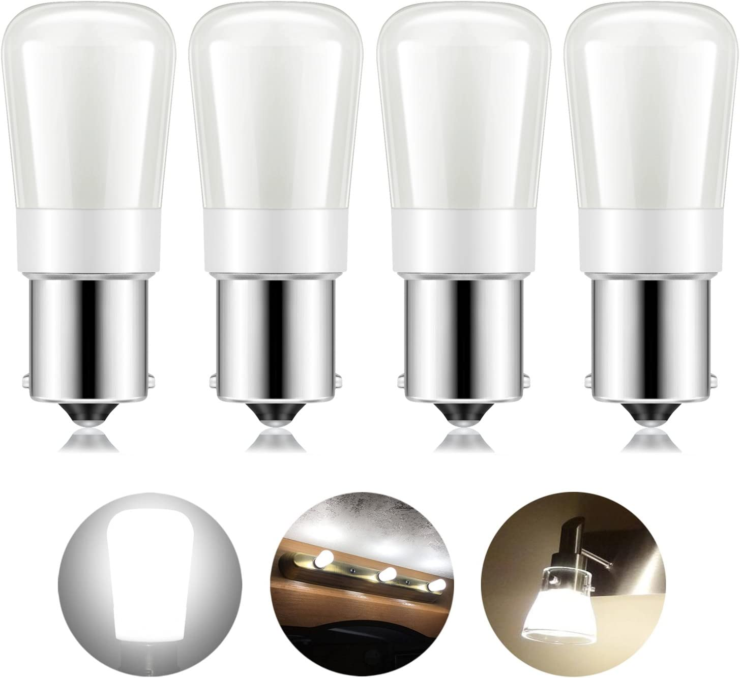 Kohree Auto/RV Led Light Bulbs, 12V 1156 Vanity Light Bulb Replacement 20-99/1141 / BA15S LED Bulb for RV Camper Trailer Motorhome 5th Wheel and Marine Boat Natural White (4Pack)