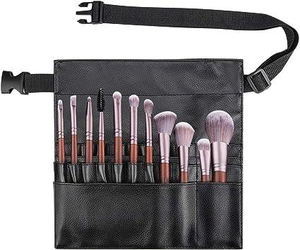 Color You - Estuche profesional para brochas de maquillaje, portátil, 22 bolsillos, organizador para brochas de maquillaje con correa de piel sintética (pinceles no incluidos): Amazon.es: Belleza